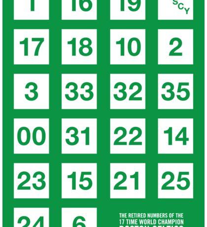 Retired Numbers - Boston Celtics Sticker