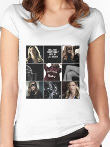 Laurel Lance/Black Canary aesthetic Women's Fitted Scoop T-Shirt