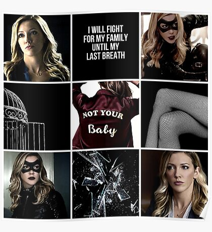 Laurel Lance/Black Canary aesthetic Poster