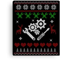 Christmas Mechanic Canvas Print