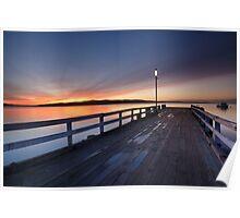 Woodbridge Jetty at Sunrise, Tasmania Poster