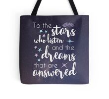 The Stars Who Listen Tote Bag