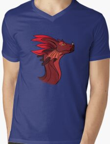 Red Dragon Mens V-Neck T-Shirt