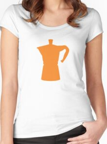Orange Moka T-shirt. Limited edition design! Women's Fitted Scoop T-Shirt