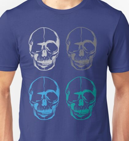 Skulls Head Colours Unisex T-Shirt