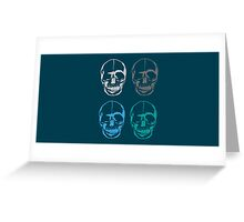 Skulls Head Colours Greeting Card