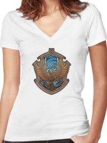 The Witty Eagle Women's Fitted V-Neck T-Shirt