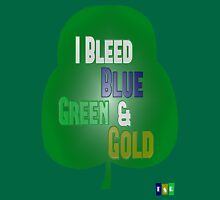 I Bleed Blue, Green, and Gold Unisex T-Shirt