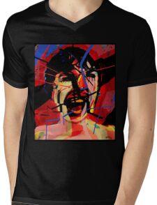 Shower scene from Psycho Mens V-Neck T-Shirt