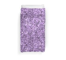 Abstract background with linear doodles Duvet Cover