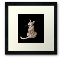 Brown abstract cat  Framed Print