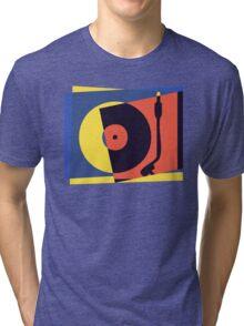 Pop Art Turntable 2 Tri-blend T-Shirt