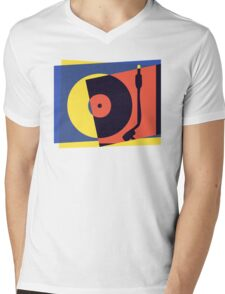Pop Art Turntable 2 Mens V-Neck T-Shirt