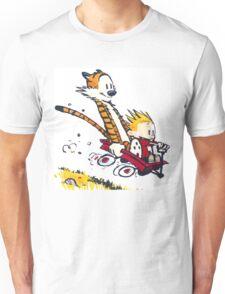 Calvin Hobbes Wagon Unisex T-Shirt