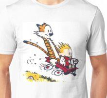 Calvin Hobbes Wagon T-Shirt Unisex T-Shirt