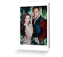 Snow White and Charming Greeting Card