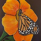 Butterfly in Flower by jansimpressions