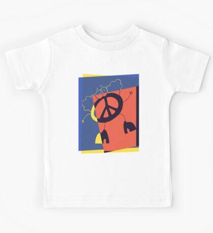 Pop Art Peace Person Kids Tee