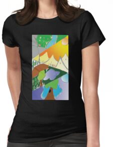 4 Landscapes Womens Fitted T-Shirt