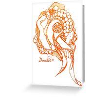 zen doodle Greeting Card