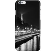 Eiffel Tower overview - panorama (Black & White) iPhone Case/Skin
