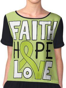Faith Hope Love - Lymphoma Cancer Awareness Chiffon Top