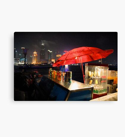 CHINA OF THE LIGHT : The red parasol Canvas Print