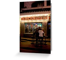 CHINA OF THE LIGHT : Pulp fiction aussie bar Greeting Card