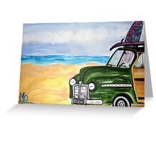 watch hill woodie wagon Greeting Card