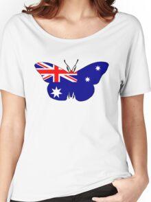 Australian Flag - Butterfly Women's Relaxed Fit T-Shirt
