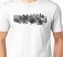 Edmonton skyline in black watercolor Unisex T-Shirt