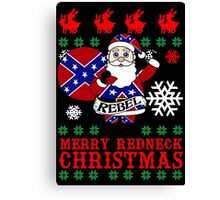 Rebel Santa Clause Ugly Christmas Sweater  Canvas Print