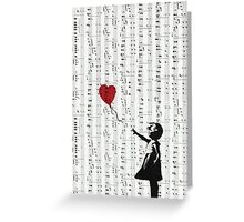 Girl With a Red Balloon by Banksy, Contemporary Street Art  Greeting Card