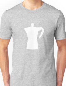 White Moka Pot Unisex T-Shirt