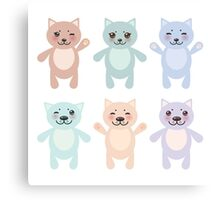 Funny Cats Canvas Print