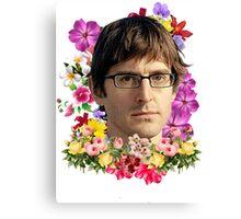 Louis Theroux Floral Canvas Print