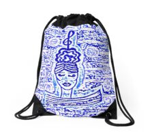 Music is a woman by Nikki Ellina Drawstring Bag