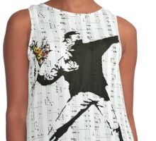 Rage - The Flower Thrower by Banksy, Street Art Work Contrast Tank