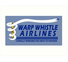 Warp Whistle Airlines Art Print