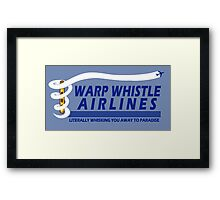 Warp Whistle Airlines Framed Print