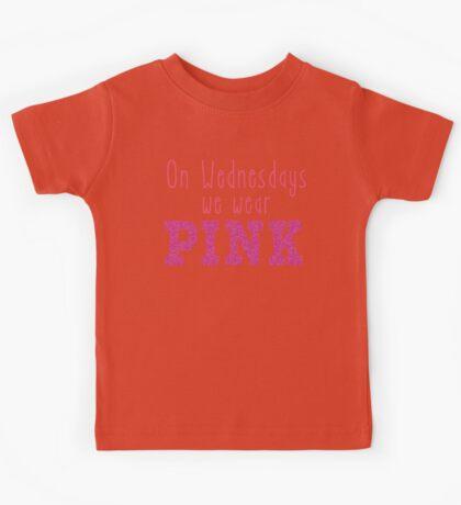 On Wednesdays We Wear PINK Kids Tee