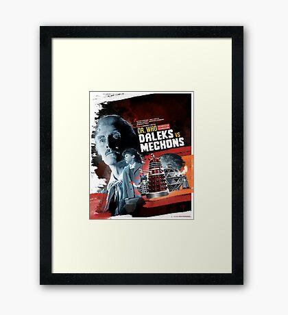Dr. Who - Daleks vs Mechons - Movie Poster Artwork Framed Print