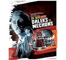 Dr. Who - Daleks vs Mechons - Movie Poster Artwork Photographic Print