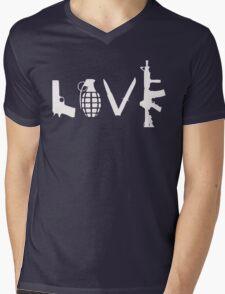Love Guns Mens V-Neck T-Shirt