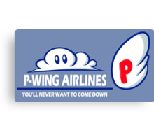 P-Wing Airlines Canvas Print