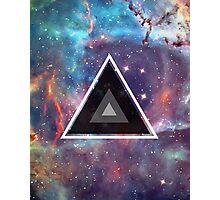 Geometric Galaxy Triangle Photographic Print
