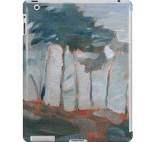 cypress trees and fog iPad Case/Skin