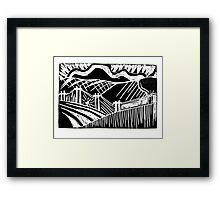 Lino Landscare Framed Print