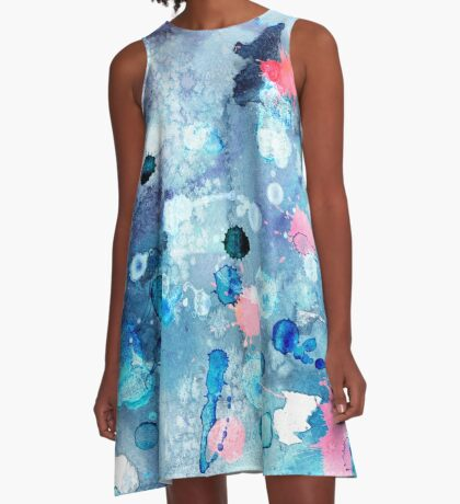 watercolor A-Line Dress