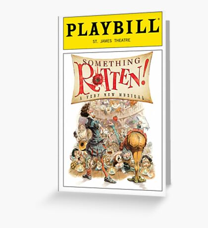 Something Rotten Playbill Greeting Card